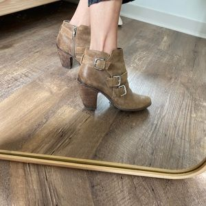 Leather Heeled Booties